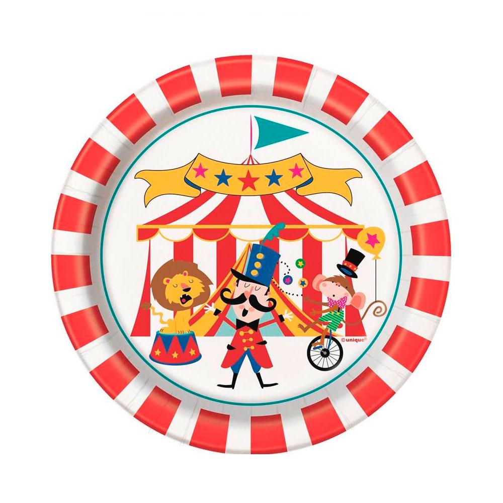 Juego 8 Platos Circo Modelo B 17 cm