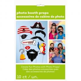 Juego de 10 Accesorios para Photocall Pirata