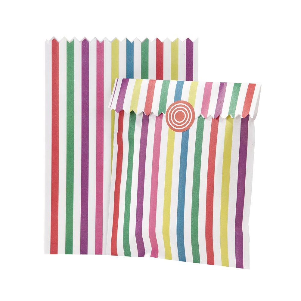 Juego de 10 bolsitas para dulces multicolor