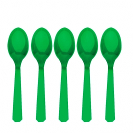 Juego de 10 Cucharas de Plástico Verdes