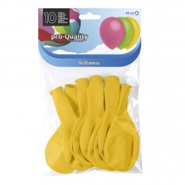 Juego de 10 globos de látex amarillo mate de 30 cm