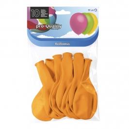 Juego de 10 globos de látex amarillo yema mate de 30 cm