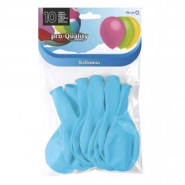 Juego de 10 globos de látex azul celeste mate de 30 cm
