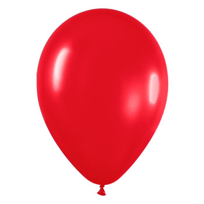 Juego De 10 Globos Rojo Mate Comprar Online