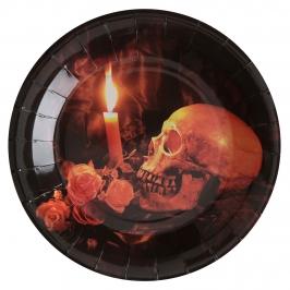 Juego de 10 Platos Skull&Pumpkin 22cm