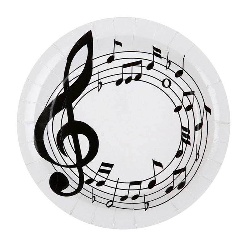 Juego de 10 Platos Música