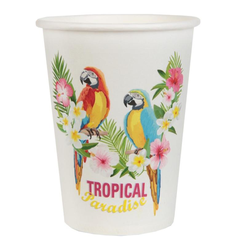 Juego de 10 vasos Paraíso Tropical