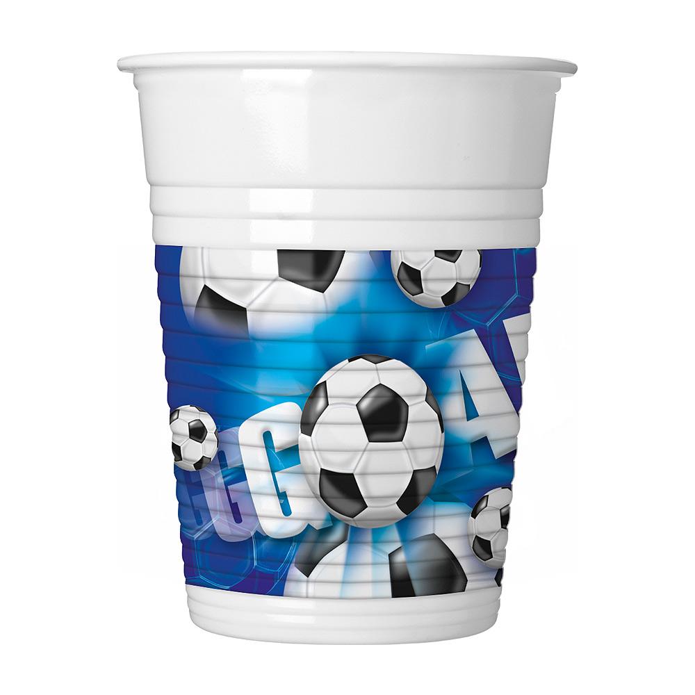 Juego de 10 vasos plástico Fútbol Party 200 ml