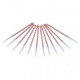 Juego de 10 Velas Rojas 6 cm