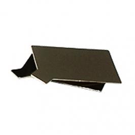 Juego de 12 Bases Rectangulares Oro/Negro 9 x 5 cm