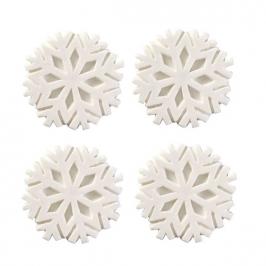 Juego de 12 decoraciones de copos de nieve blancos