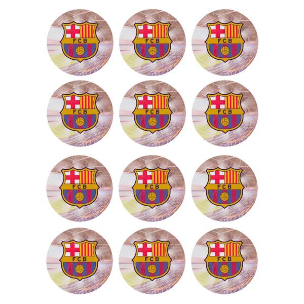 Juego de 12 Impresiones en Papel de Azúcar Barcelona Modelo B