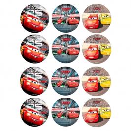 Juego de 12 Impresiones en Papel de Azúcar Cars