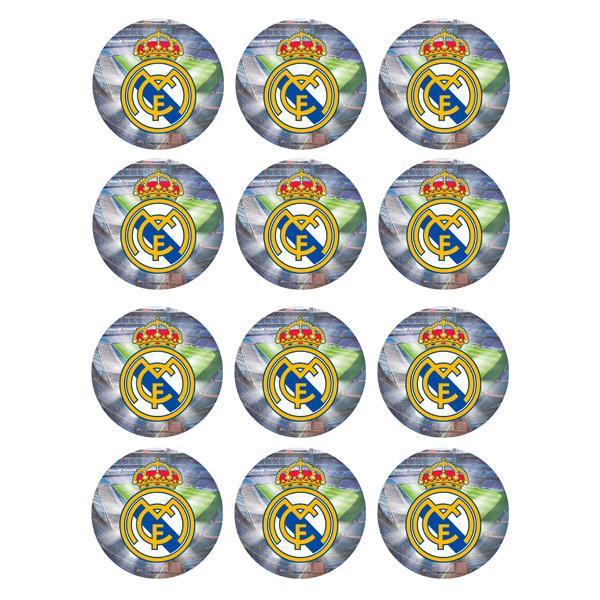 Juego de 12 Impresiones en Papel de Azúcar Madrid Modelo B