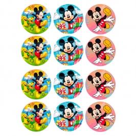 Juego de 12 Impresiones en Papel de Azúcar Mickey Mouse