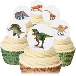 Juego de 12 obleas Dinosaurios