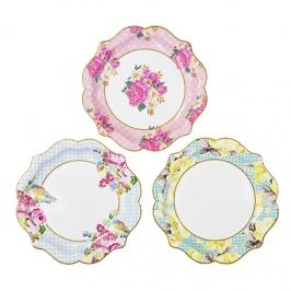Juego de 12 platos Vintage Floral
