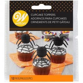Juego de 12 Toppers Araña