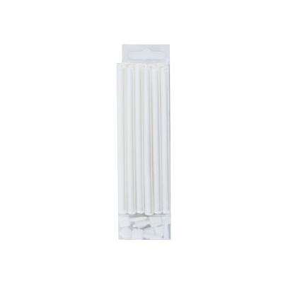 Juego de 12 velas blanco perlado 10cm