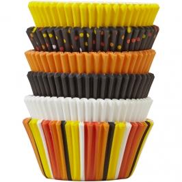 Juego de 150 cápsulas para cupcakes otoñales