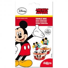 Juego de 16 Discos de Azúcar Mickey