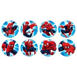 Juego de 16 Discos de Azúcar Spiderman
