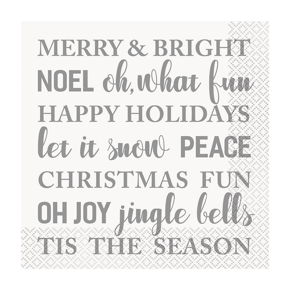 Juego de 16 Servilletas Let It Snow Navidad