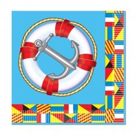 Juego de 16 Servilletas Nautical