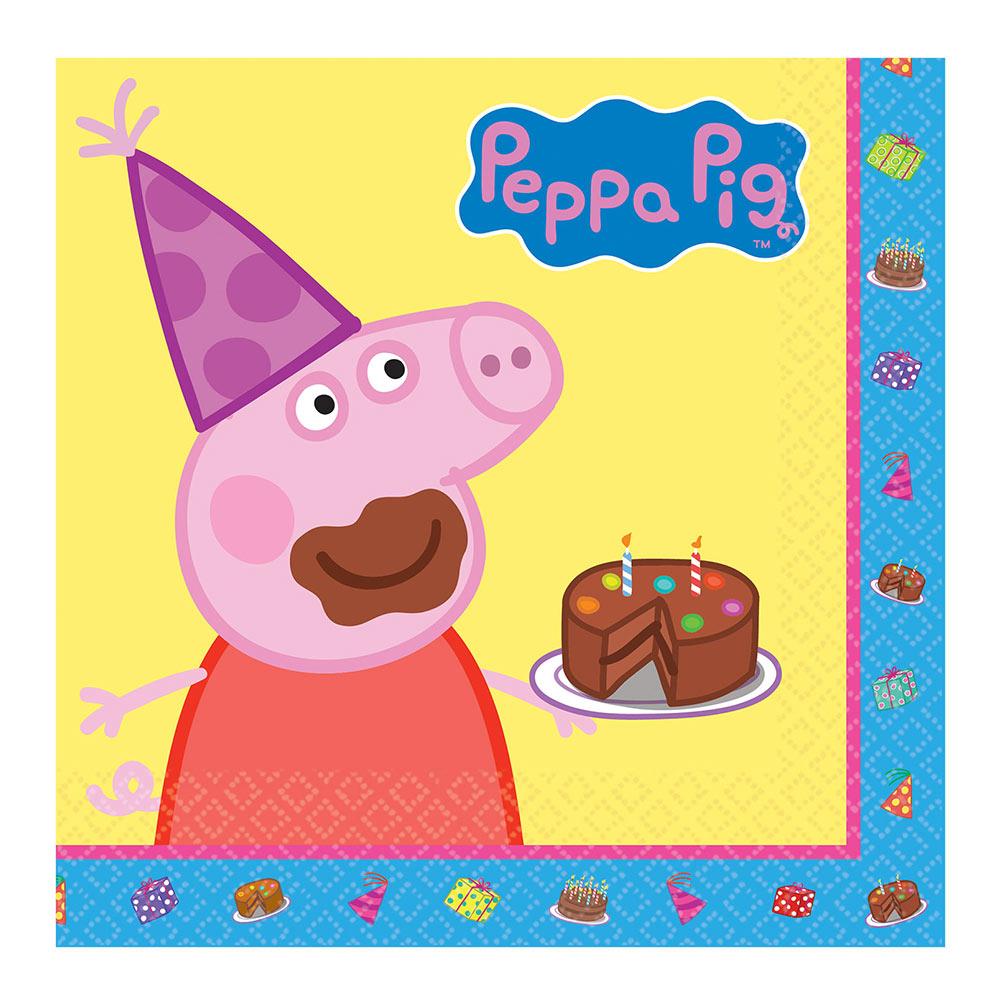 Juego 16 Servilletas Peppa Pig Cumpleaños Envíos 24 Horas