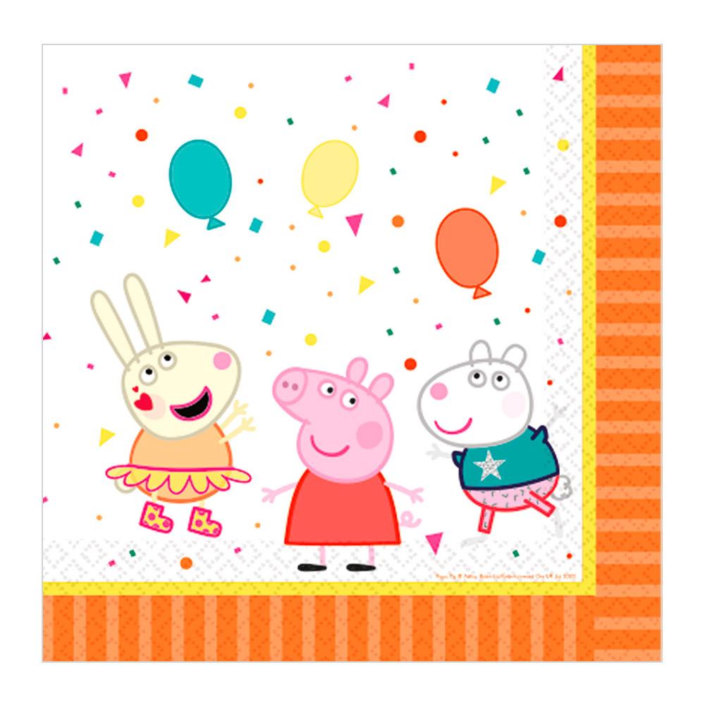 Juego de 16 Servilletas Peppa Pig Party