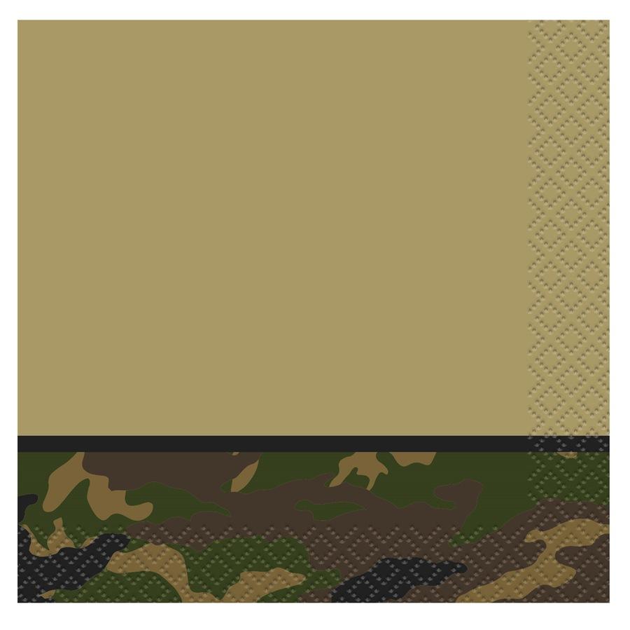 Juego de 16 Servilletas Pequeñas Camuflaje Militar