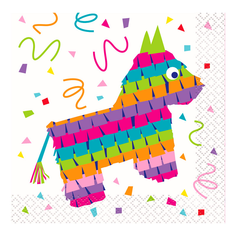 Juego de 16 Servilletas Pequeñas Fiesta Mexicana