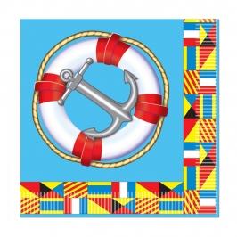 Juego de 16 Servilletas Pequeñas Nautical