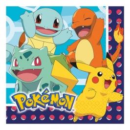 Juego de 16 Servilletas Pokémon