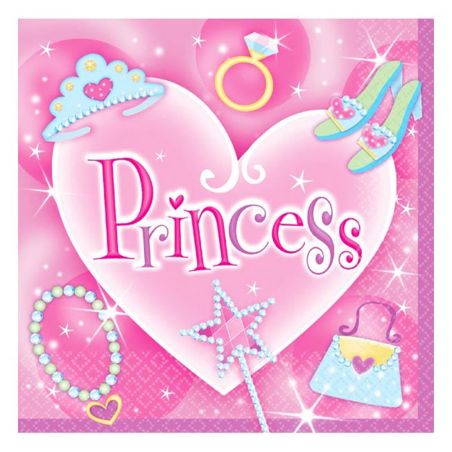 Juego de 16 servilletas Princesas