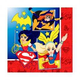 Juego de 16 Servilletas Super Hero Girl
