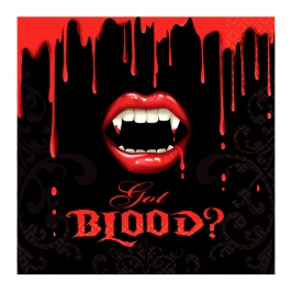Juego de 16 Servilletas Vampiro