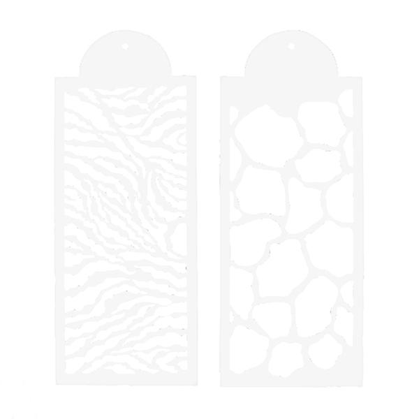 Juego de 2 Stencils Safari