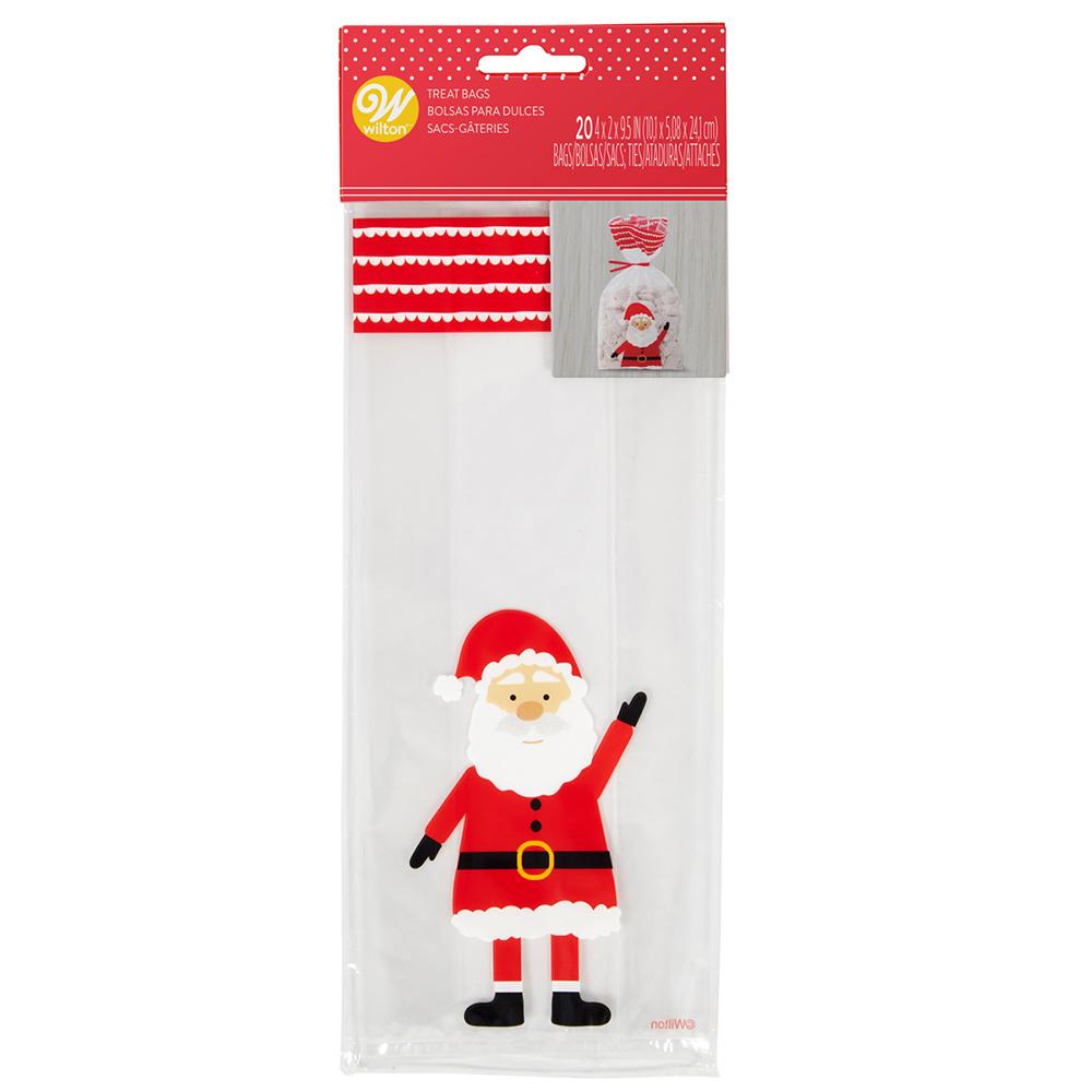 Juego de 20 Bolsas para Dulces Papá Noel