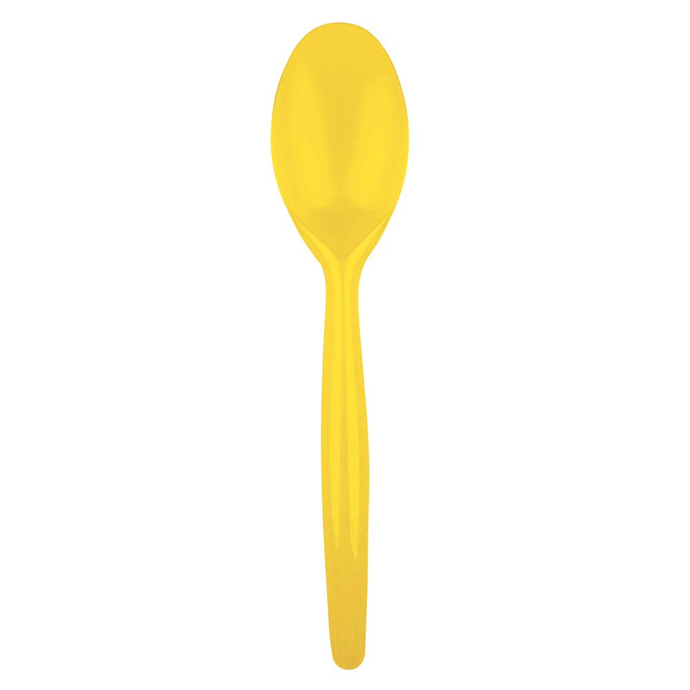 Juego de 20 cucharas de plástico en amarillo