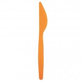 Juego de 20 Cuchillos de Plástico Naranja