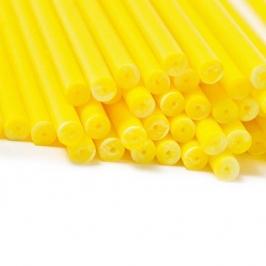 Juego de 20 palitos para piruletas Amarillos 15cm