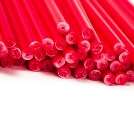 Juego de 20 palitos para piruletas Rojos 15cm