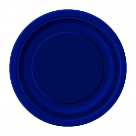 Juego de 20 Platos Azul Marino 17 cm