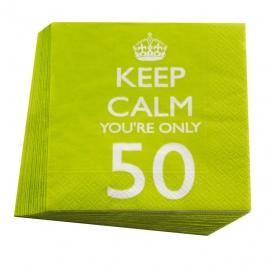 Juego de 20 servilletas 50 cumpleaños