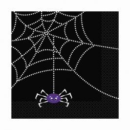 Juego de 20 servilletas Tela de araña