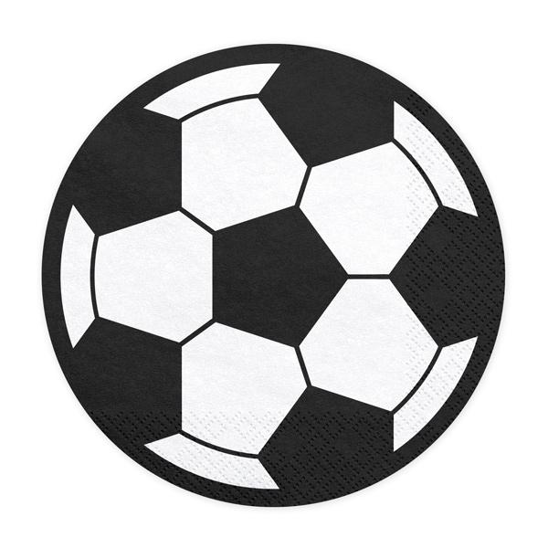 Juego de 20 Servilletas Balón de Fútbol