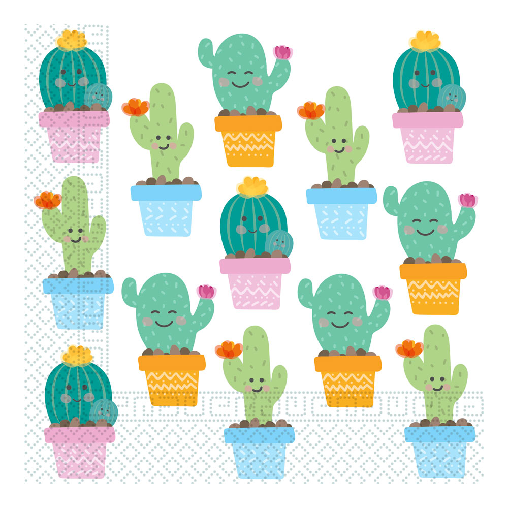 Juego de 20 Servilletas Cactus