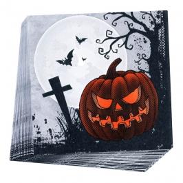 Juego de 20 servilletas cementerio halloween