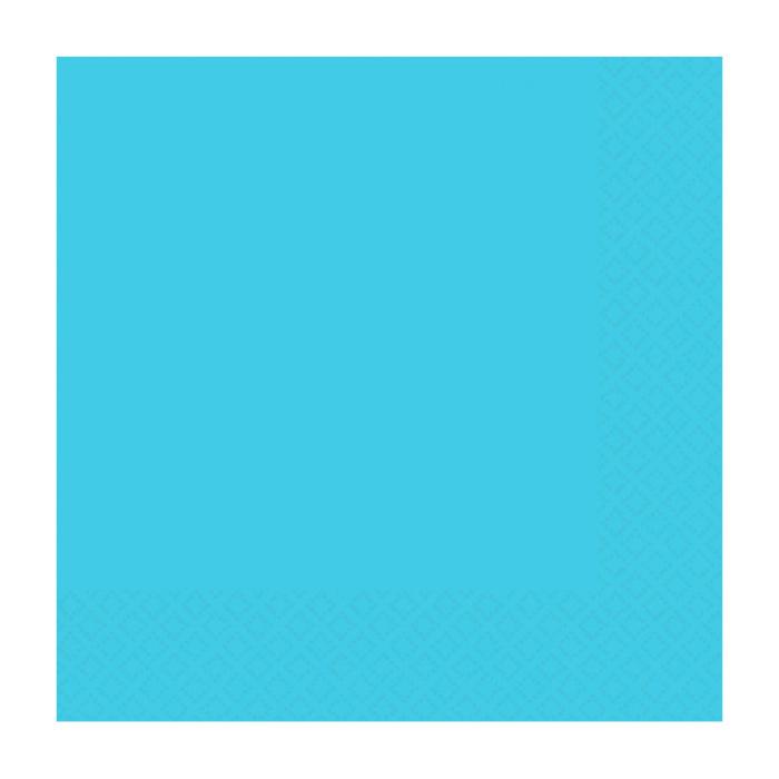 Juego de 20 Servilletas Cóctel Azul Caribe